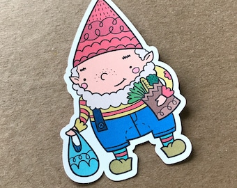 Grocery Shopping Gnarley, Die Cut, Gnome, Travelers Notebook Supplies, Bookmark