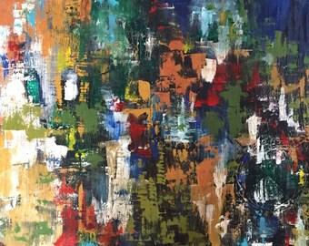 custom original mixed media abstract painting