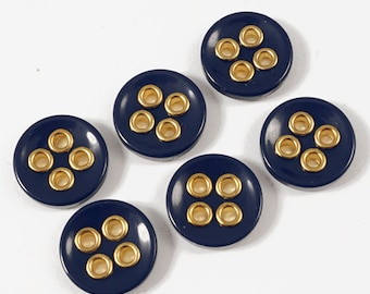 4-hole NAVY Blazer Button by 6pcs, 18mm , 20mm, GN-2174