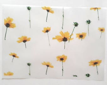30 sheets 21x15cm Daisy Flower Greaseproof Oil Wax Food Wrapping Paper