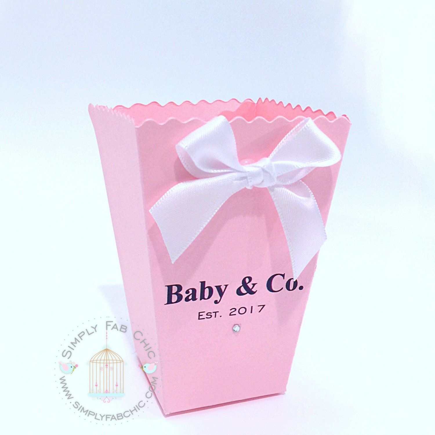 Baby & Co Popcorn Box Favor Boxes Set of 10 Treat Favors