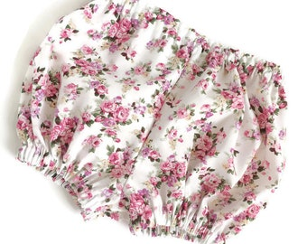 SALE Vintage Floral Baby Girl Bloomers, Baby Girl Bloomers, Floral Diaper Cover, Baby Bloomers and Headband Set, Baby Girl Clothes Baby Girl