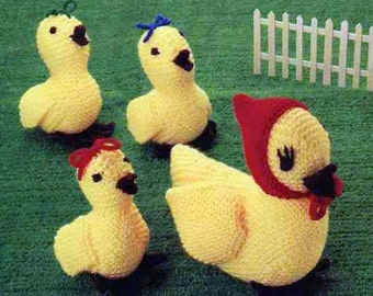 easter duck and duckling dk knitting pattern 99p pdf
