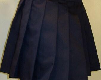Dark Navy Blue Pleated Skirt~School Uniform Royal Navy Skirt~Small to Large Size Skirt custom make Cosplay Navy Parade Skirt @sohoskirts