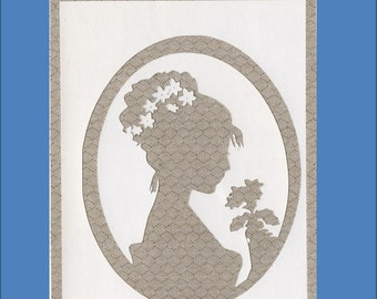 Thinking of You Friend Card - Silhouette Cameo Cards - Free Shipping in USA