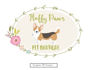 Premade Logo, Dog Logo, Business Logo, Puppy Logo, Pet Logo, Animal, Logo,  Logos, Custom Logo, round logo
