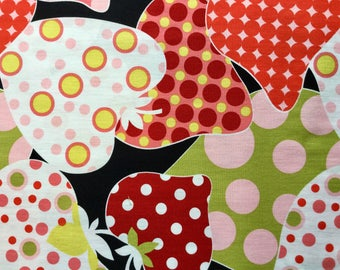 Cotton Black Strawberries by the Yard - Fashionista- Very Berry Strawberry by Alexander Henry Fabrics Collection