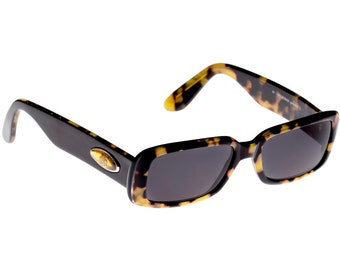 Von Furstenberg 80s sunglasses, made in Italy. Authentic Vintage Sunglasses for Women / Tortoise sunglasses / Black Rectangular Sunglasses