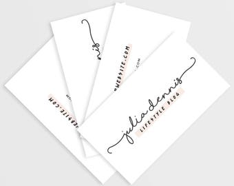 Calling Card Design, Customized Business Card, Printable Modern Business Card, Business Branding for Bloggers, Blogging Business Card