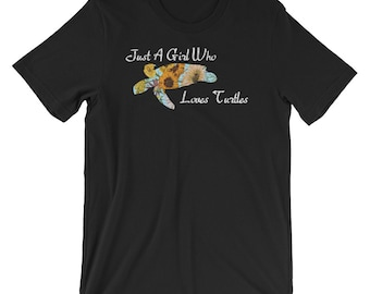 Just A Girl Who Loves Turtles T-shirt Cute Turtle Lover Tee