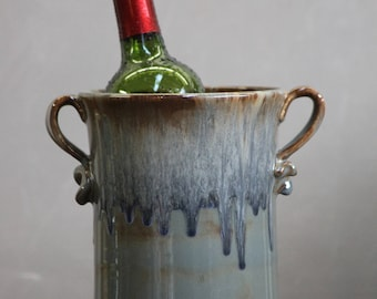Wine Chiller Utensil Holder Volcano Blue