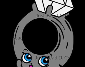 Shopkin Inspired Roxy Ring Die Cut File
