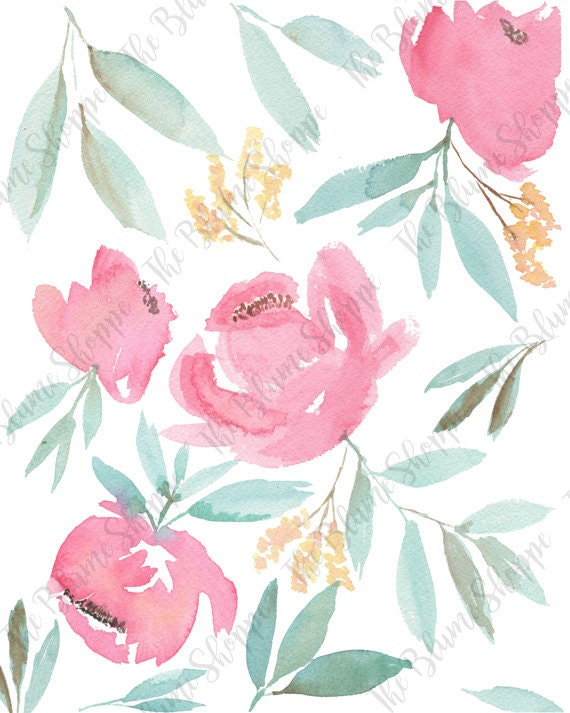 Loose Roses | floral watercolour