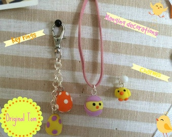 Miniature Easter Keyrings and Decorations
