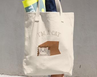 I'm a Cat Cotton Tote Bag