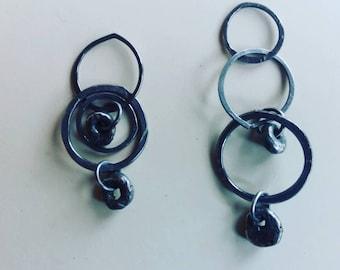 Silver Hagstone Orbit earrings