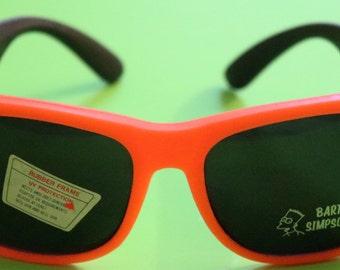 Vintage Adult, Hard Rubber, Orange  Frames with Black Arms, Bart Simpson Sunglasses#3