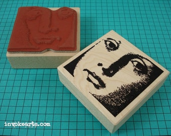 Monique Face Stamp / Invoke Arts Collage Rubber Stamps