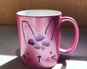 Easter Sale Cute Metallic Pink Coffee Tea Mug