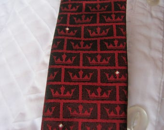 Vintage Silk Bow Tie, Self Tie from Stromberg's