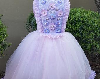 Girls Lilac Dress, Girls Purple Dress, Girls Lace Dress, Girls Lavender Dress, Girls Couture Dress, Pupolino.