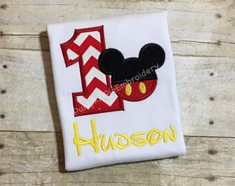 Mickey Mouse 1st Birthday Shirt!!