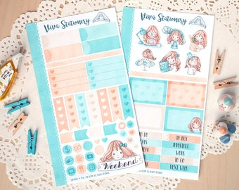 Personal Planner Decorative Sticker Kit, two pages ~Vera~ For your Life Planner, Diary, Journal, Scrapbook, Filofax, Kikki K, Kate Spade..