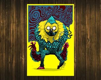 Owl Squid Print
