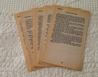 Vintage Authentic Book Pages Junk Journals Altered Art