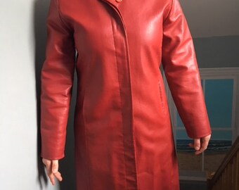 Suzy pleather coat bought in Camden Market in London