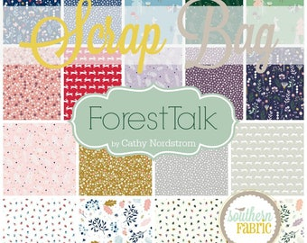 Forest Talk - Scrap Bag Quilt Fabric Strips by Alison Glass for Andover Fabrics