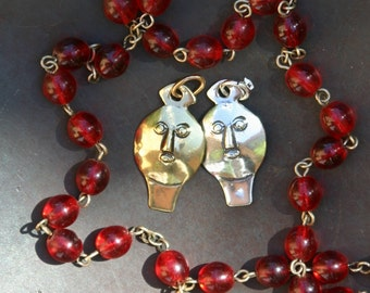Face Milagro in Sterling Silver or Yellow Bronze