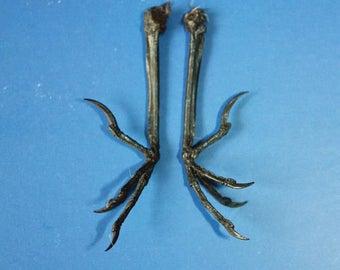 Decor - Talisman - 2 Natural Chicken Feet Charms