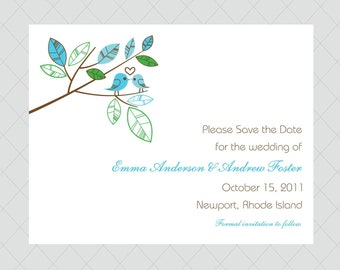 Love Bird Save the Dates