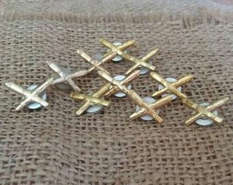 set of 10 Soviet Military Pins, Military Sign, Soviet Army Vintage