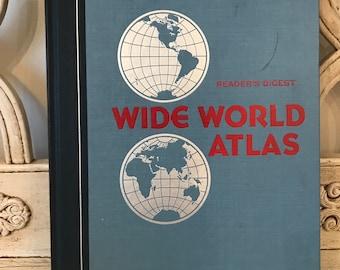 Vintage World Atlas for Crafts - Readers Digest - 1984
