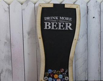 Bottle Cap Holder/Bottle Cap Display/Pilsner Shape/Pint Glass Shape/Beer Decor/Bar Decor/Father's Day/Man Gift/ Collector/Cap Display/Beer