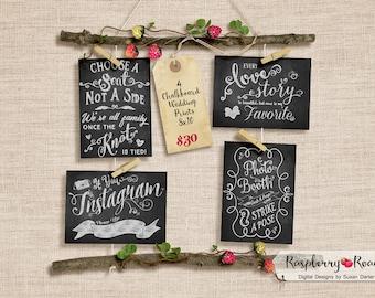 Chalkboard Wedding Printables