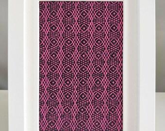 Framed Textile No. 9 - Handwoven Textile Art