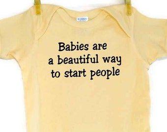 Precious Baby Bodysuit onesie Screenprinted Banana Black Ink