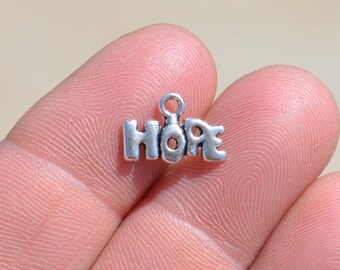 20  Silver HOPE Charms SC2024