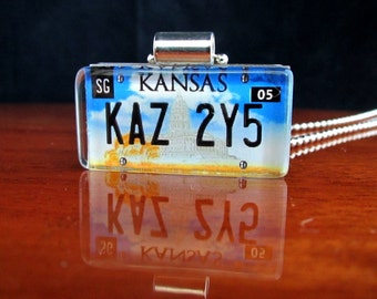 Supernatural Kansas KAZ 2Y5 License Plate Pendant Necklace