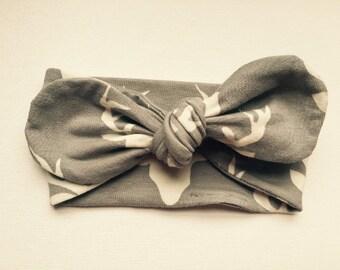 Buck Knot Headband-Deer Headband, Baby Headband, Girls Knot Headband, Tie Headband