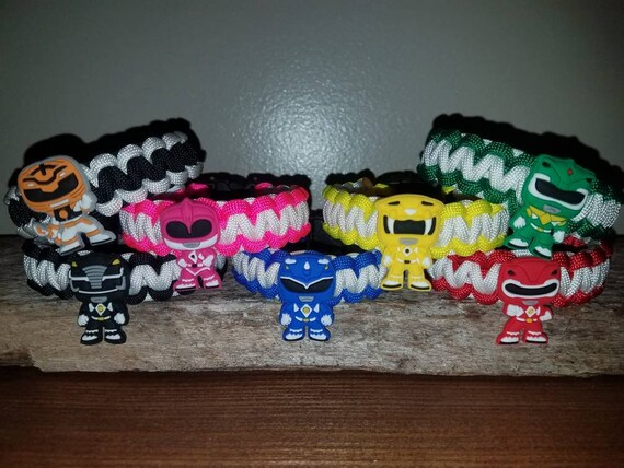 All 7 - Mighty Morphin Power Ranger 550 paracord bracelet MMPR