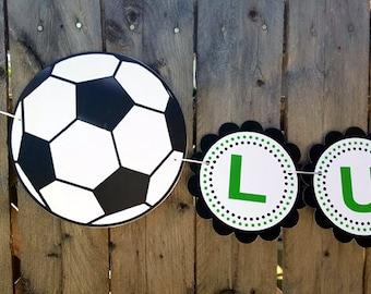 Soccer Banner - Soccer Baby Shower Banner - Soccer Birthday Banner