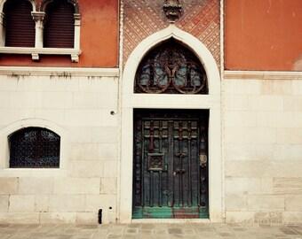 venice photography, door photography, venice italy, europe art, travel photography, orange home decor, V39