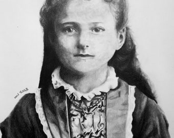St Therese Child Print