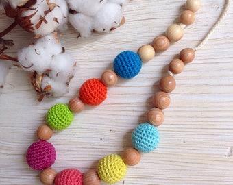 STYLISH nursing necklace - Breastfeeding necklace for mom to wear /