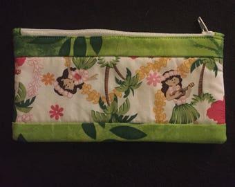 Fabric Glasses Zipper Bag // Travel Accessory Pouch