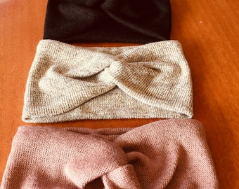 Extra Wide Knit Turban Headband/ Head Wrap/ Knit Headband/ Gifts/ Gift For Her/ Handmade in Australia